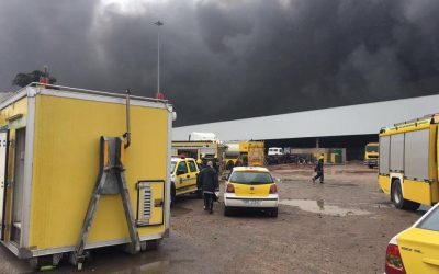 Factory Fire in Rossburgh